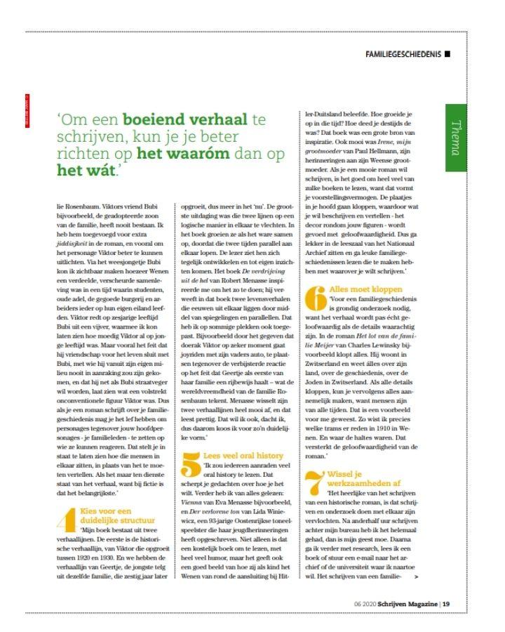 Judith Fanto Schrijven Magazine 3