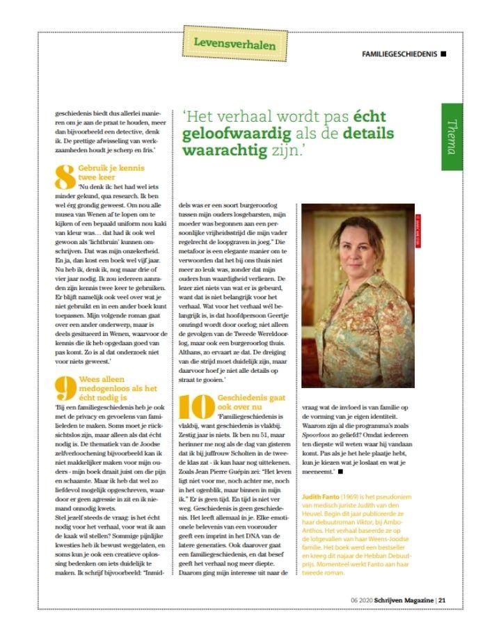 Judith Fanto Schrijven Magazine 4