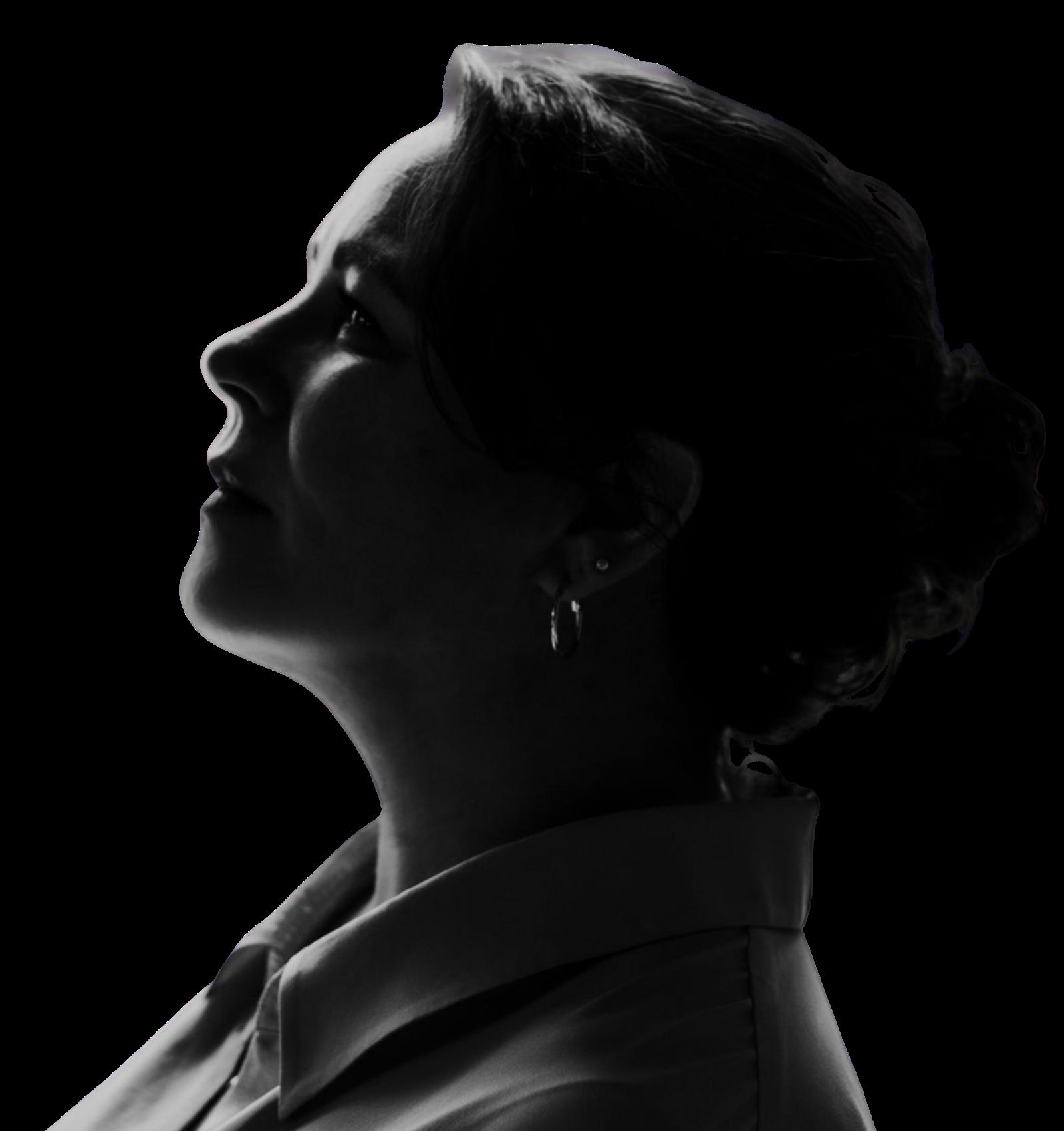 Silhouette origineel Judith Fanto schrijver auteur spreker 1600x1700 px transpa
