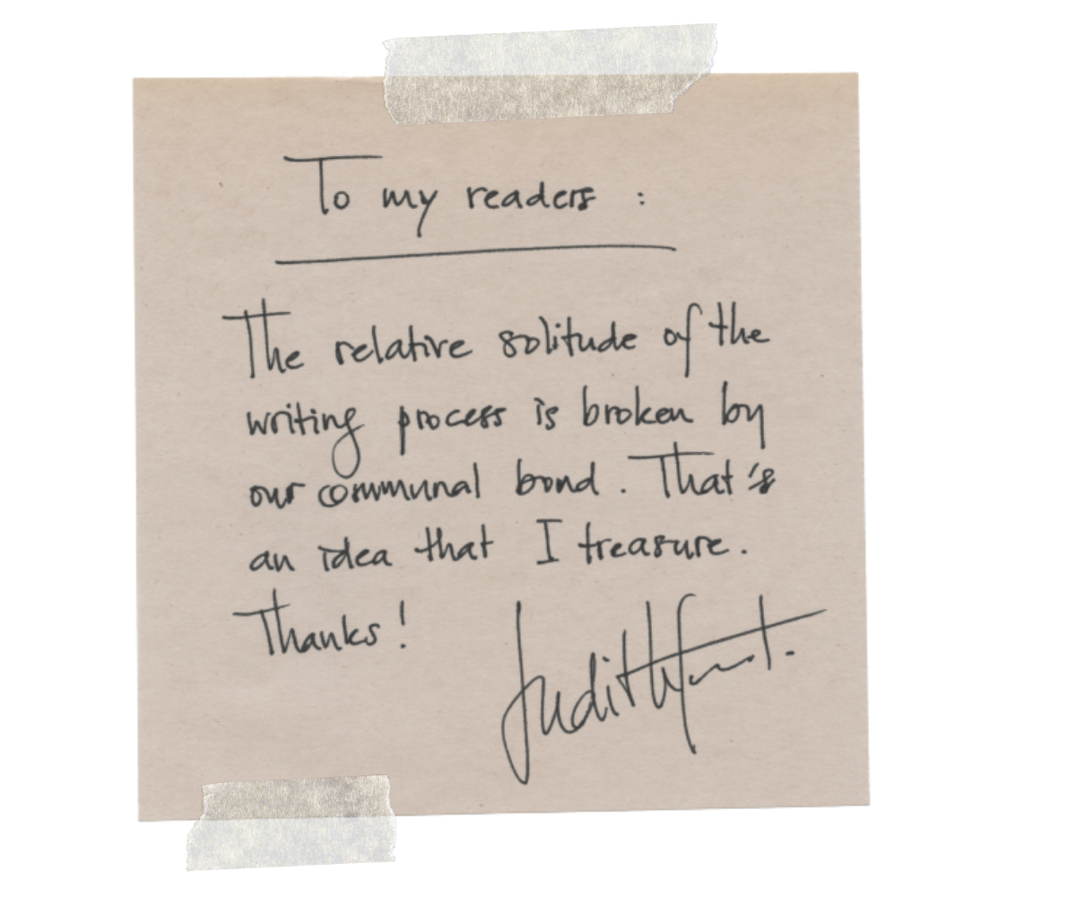 Judith Fanto To my readers